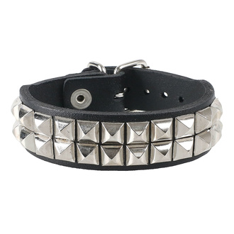 Bracelet pyramides 2, Leather & Steel Fashion