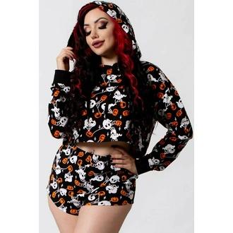 sweatshirt pour femmes KILLSTAR - Haunted Pumpkin Cropped - Noir, KILLSTAR