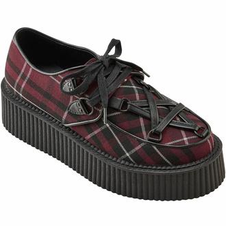 Chaussures pour femmes KILLSTAR - Hexellent creepers - Blood Tartan - KSRA003932