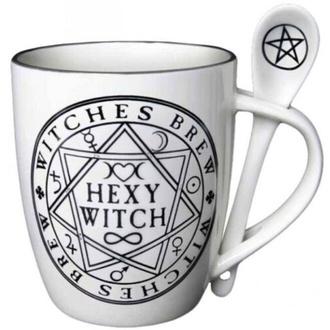 Mug avec cuillère ALCHEMY GOTHIC - Hexy Witch, ALCHEMY GOTHIC
