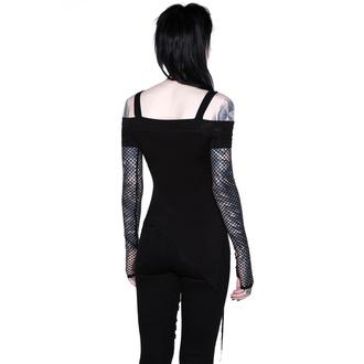 T-shirt à manches longues KILLSTAR pour femmes - Hole Heartedly Bardot Top, KILLSTAR