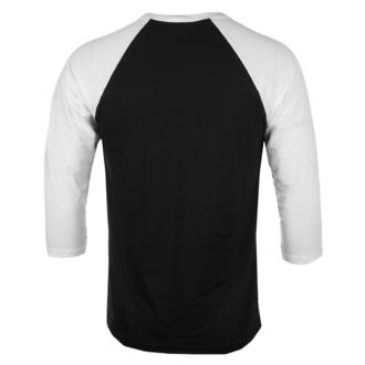 T-shirt à manches 3/4 pour hommes Jaws - Shark Smoke - Base-ball - Blanc noir - HYBRIS, HYBRIS, Les dents de la mer