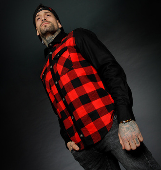 Chemise pour homme HYRAW - ADDICT - ROUGE, HYRAW