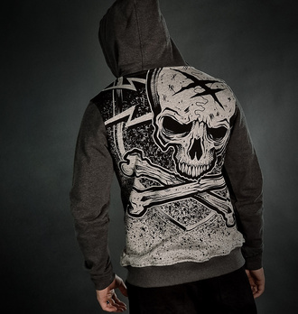 Sweat à capuche pour homme HYRAW - ASHES TO, HYRAW
