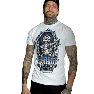T-shirt pour hommes HYRAW - Graphic - SKULL AND BONES - BLANC, HYRAW