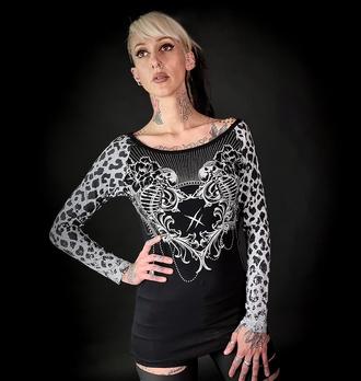T-shirt pour femmes à manches longues HYRAW - MANDALA, HYRAW