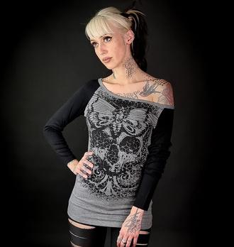 T-shirt pour femmes à manches longues HYRAW - ORNAMEN, HYRAW