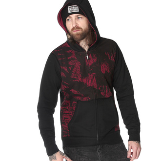 Sweat à capuche pour hommes HYRAW - HOMME RED HELL, HYRAW