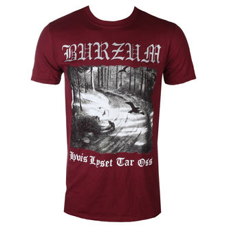 tee-shirt métal pour hommes Burzum - HVIS LYSET TAR OSS (MAROON) - PLASTIC HEAD, PLASTIC HEAD, Burzum
