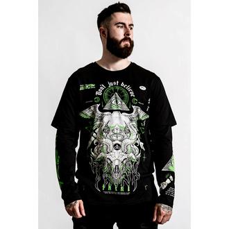 T-shirt unisexe (manches longues) KILLSTAR - Illumined 2-Layer - Noir, KILLSTAR