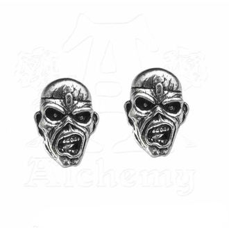 Boucles d'oreilles Iron Maiden - Eddie Head - ALCHEMY GOTHIC, ALCHEMY GOTHIC, Iron Maiden