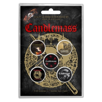 Badges CANDLEMASS - THE DOOR TO DOOM - RAZAMATAZ, RAZAMATAZ, Candlemass