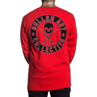 T-shirt à manches longues pour hommes SULLEN - BOH - ROUGE, SULLEN