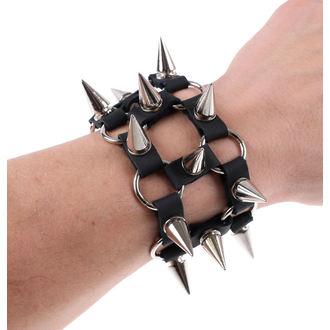 bracelet PICS 2 - Noire, JM LEATHER