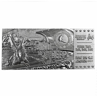 Décoration Jurassic world - Réplique Mosasaurus Ticket - argent plaqué, NNM, Jurassic World