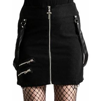 Jupe pour femmes KILLSTAR - katy Coffin Mini - Noir, KILLSTAR