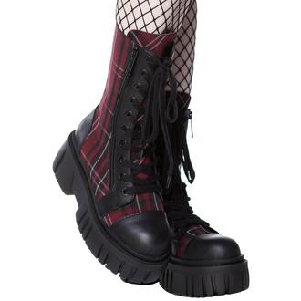 Chaussures KILLSTAR - Kick The Bucket Boots - BLOOD TARTAN, KILLSTAR