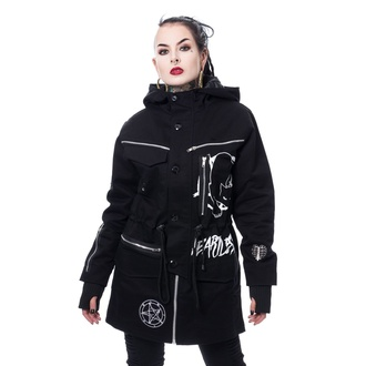 Veste (parka) pour femmes HEARTLESS - KITTY CULT PARKA - NOIR, HEARTLESS