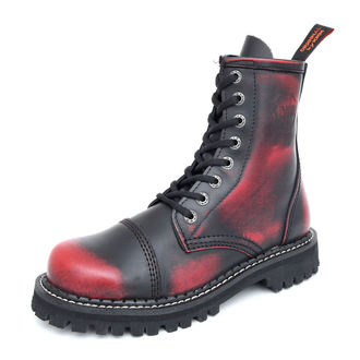 bottes en cuir - - KMM - Black/Red - 080