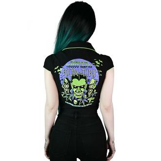 chemise pour femmes KILLSTAR - Kon-Tiki Recadrer - Noir, KILLSTAR