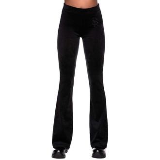 Pantalon pour femmes KILLSTAR - Pantalon de velours Lounge Lizard - NOIR, KILLSTAR