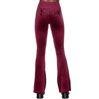 Pantalon pour femmes KILLSTAR - Pantalon de velours Lounge Lizard - BOURGOGNE, KILLSTAR