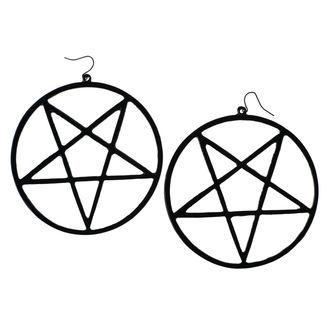 Boucle d'oreille Luciferothica - Huge Inverted Pentagram - Noir, LUCIFEROTHICA