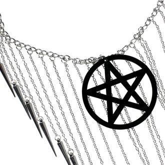 Collier Luciferothica - Pentagram Black, LUCIFEROTHICA
