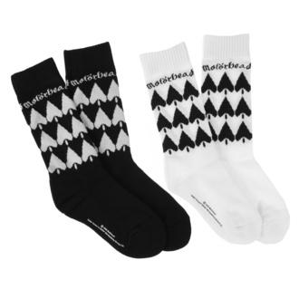 Chaussettes Motörhead - 2-Pack - noir / blanc, NNM, Motörhead