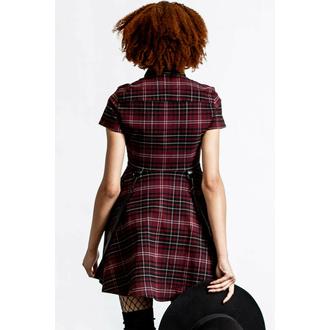 Robes pour femmes KILLSTAR - Menace Collar - BLOOD TARTAN, KILLSTAR