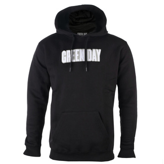 sweat-shirt avec capuche pour hommes Green Day - Logo & Grenade Applique - ROCK OFF, ROCK OFF, Green Day