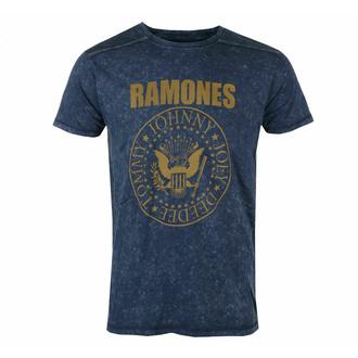 T-shirt pour homme Ramones - Presidential Morel Snow Wash - NAVY - ROCK OFF, ROCK OFF, Ramones
