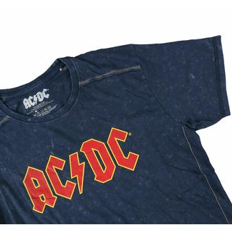 T-shirt pour hommes AC/DC - Logo - Snow Wash - ROCK OFF, ROCK OFF, AC-DC