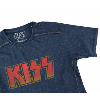 T-shirt pour homme KISS - Logo classique - Snow Wash - ROCK OFF, ROCK OFF, Kiss