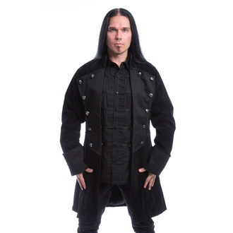 Manteau pour hommes POIZEN INDUSTRIES - MONARCH X - NOIR VELOURS, POIZEN INDUSTRIES