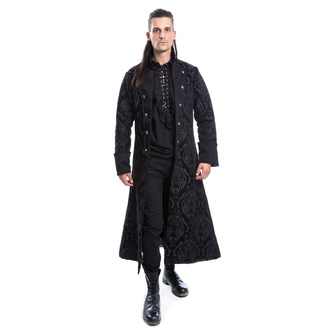 Manteau pour hommes POIZEN INDUSTRIES - MONARCH - NOIR BROCART, POIZEN INDUSTRIES