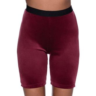 Shorts pour femmes KILLSTAR - Luna Cycliste - BOURGOGNE, KILLSTAR