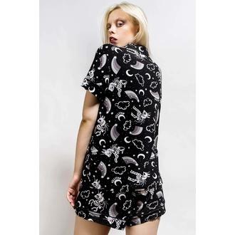 pyjama femme (ensemble) KILLSTAR - Moonbow - Noir, KILLSTAR