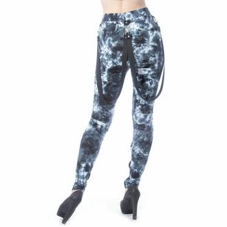 Pantalon pour femmes (leggings) CHEMICAL BLACK - MORWENNA - NOIR/BLANC TIE DYE, CHEMICAL BLACK