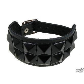 bracelet Pyramides 2, BLACK & METAL