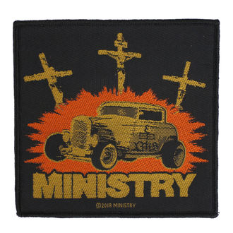 Écusson Ministry - Jesus Built My Hotrod - RAZAMATAZ, RAZAMATAZ, Ministry