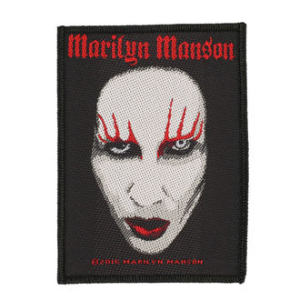 patch MARILYN MANSON - FACE - RAZAMATAZ, RAZAMATAZ, Marilyn Manson