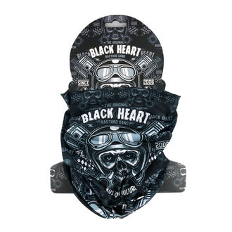 Echarpe BLACK HEART - PISTON SKULL - NOIR, BLACK HEART