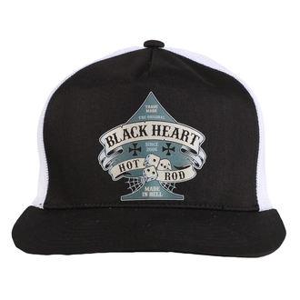 casquette BLACK HEART - BELL - BLANC, BLACK HEART
