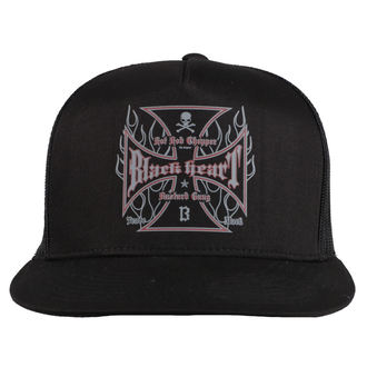 casquette BLACK HEART - HOT ROD FLAMES - NOIR, BLACK HEART