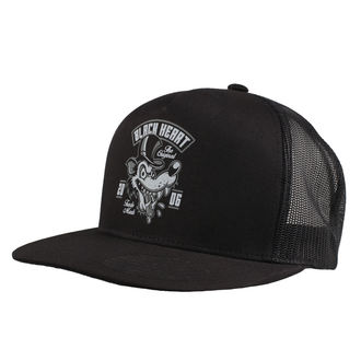 casquette BLACK HEART - WOLF - NOIR, BLACK HEART