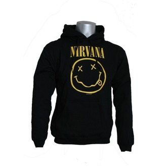 sweat-shirt avec capuche pour hommes Nirvana - Smiley - LIVE NATION, LIVE NATION, Nirvana