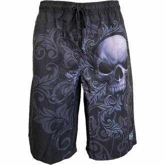 shorts pour hommes (maillot de bain) SPIRAL - SKULL SCROLL- Noir, SPIRAL