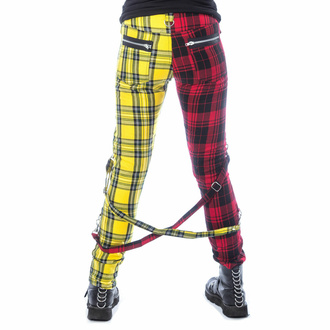 Pantalon pour femmes CHEMICAL BLACK - ORDELIA - ROUGE/JAUNE TARTAN, CHEMICAL BLACK