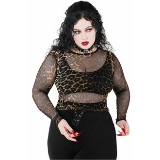 T-shirt à manches longues pour femmes KILLSTAR - Overkill Fishnet - LEO, KILLSTAR